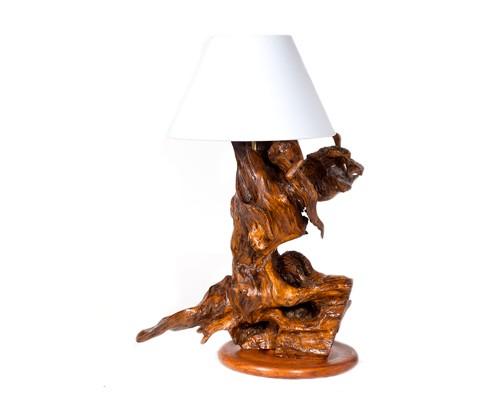 Gioco di forme lampada da tavolo rustica philip wood for Tavolo in legno di ulivo